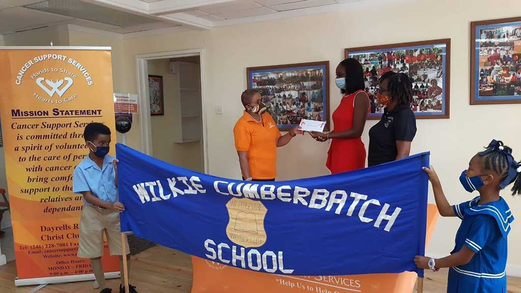 A kind monetary donation from the staff and students of the Wilkie Cumberbatch School
